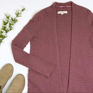 LOFT Cardigan Size Small Dusty Rose Mauve Color